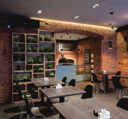 Модное кафе в центре города с алкогольной лицензией