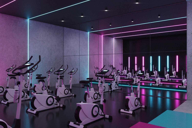 Стильный фитнес-клуб