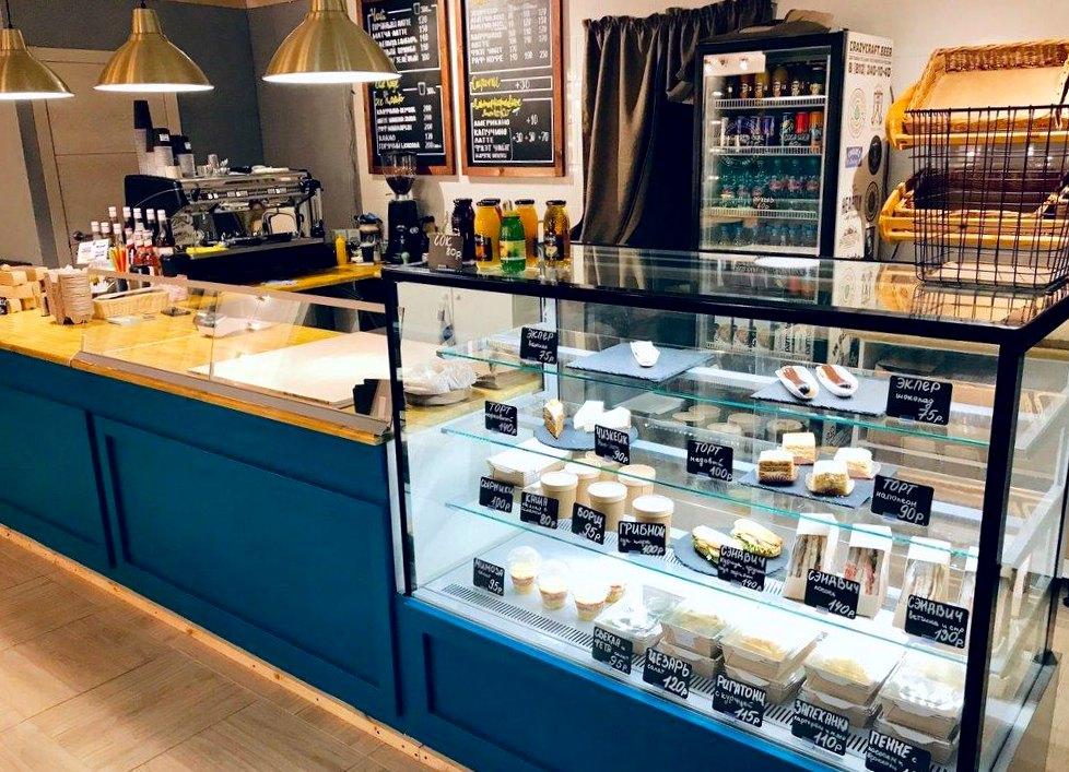 Кофейня-пекарня с панорамными окнами