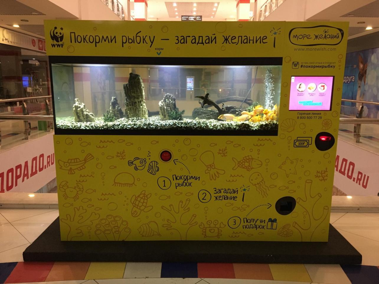Сеть развлекательных аквариумов-автоматов